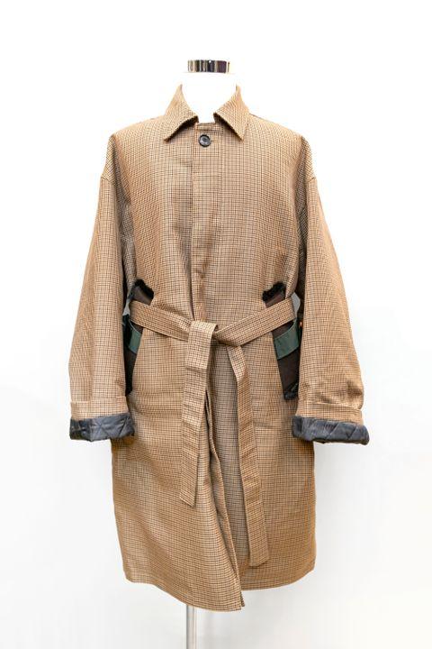 8XL Soutien Collar Coat / Gun Club Check